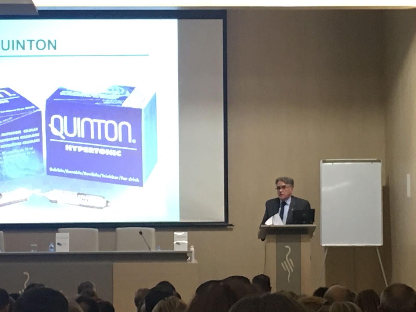 Dr. Alzina en Seminario de Terapia Marina de Quinton en Valencia
